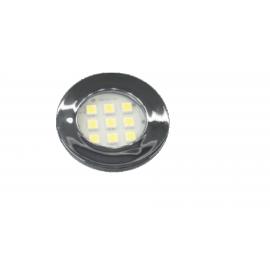 Luminária Redonda Cromada Fria de 46 mm da Nuze, com 9 leds. - E511C