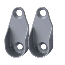 Kit com Dois Suportes Foscos e Parafusos Para Cabideiros Oblongos e Ovais