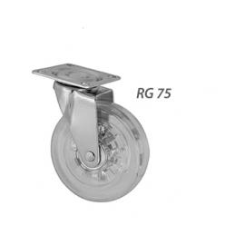 RODIZIO RG75 COM ROLAMENTO TRANSP S/ FREIO