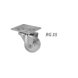 RODIZIO RG35 REFORÇADO INCOLOR CROMADO S/ FREIO