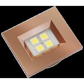 LUMINARIA RED GOLD RETANGULAR 4 LED FRIA 40X46 E514RG