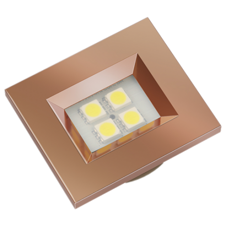 LUMINARIA RETAN 40X46 ROSE GOLD 4LED FRIA E514RG