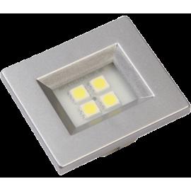 LUMINARIA ALUMINIO RETANGULAR 4 LEDS FRIA 40X46 E514A