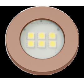 LUMINARIA 6 LEDS QUENTE REDONDA 46MM ROSE GOLD E315RG